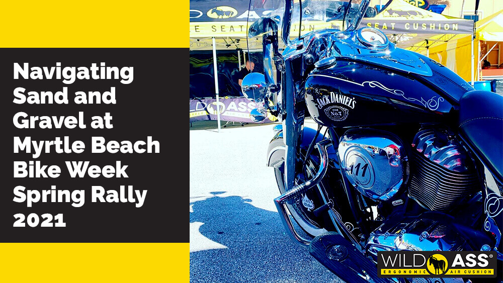 Navigating Sand and Gravel at Myrtle Beach Bike Week Spring Rally 2021