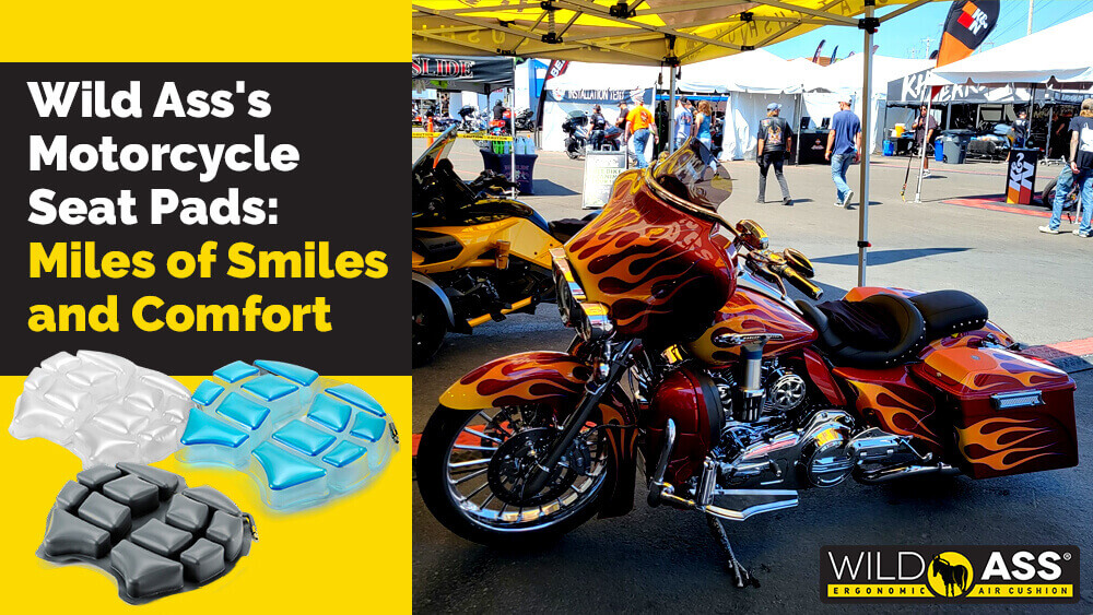 Wild Ass's Motorcycle Seat Pads: Miles of Smiles and Comfort
